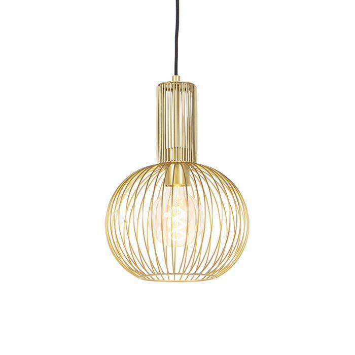 Lámpara-colgante-diseño-dorada---WIRE-WHISK