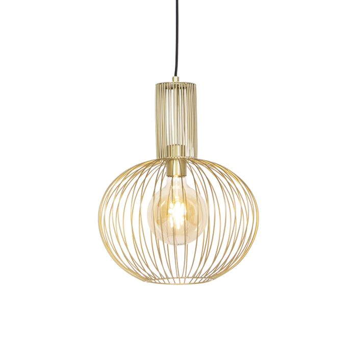 Lámpara-colgante-de-diseño-dorada---Alambre-Horneado