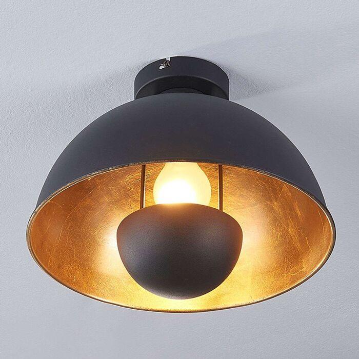Plafón-industrial-negro-con-oro---Magna