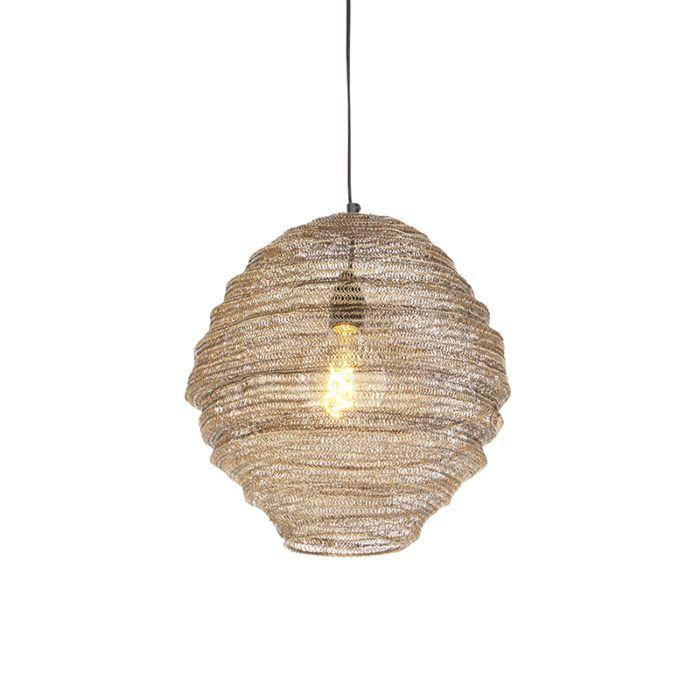 Lámpara-colgante-oriental-latón-35cm---NIDUM-Mena