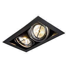Foco-empotrado-negro-orientable-2-luces---ONEON-111-2
