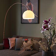 Lámpara-de-arco-moderna-cobre-pantalla-blanca---ARC-Basic