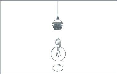 Paso 5. Encaja la lámpara y pon la bombilla