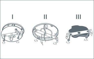 Paso 2. Coloca la placa de montaje de cada foco